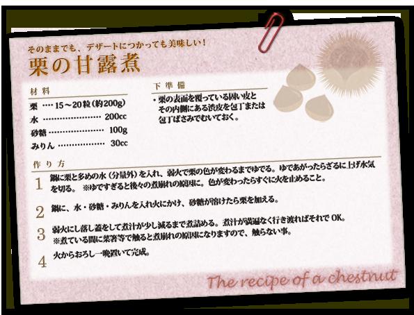 栗の甘露煮のレシピ